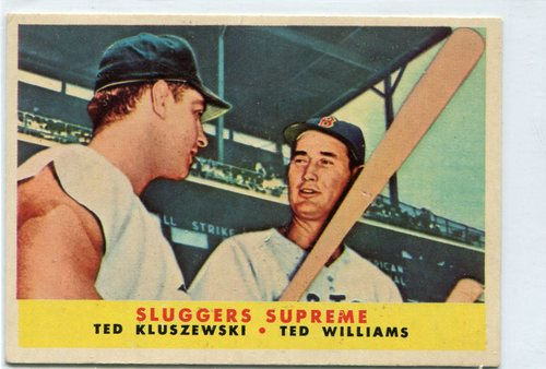 Photo of 1958 Topps #321 Sluggers Supreme/Ted Kluszewski/Ted Williams