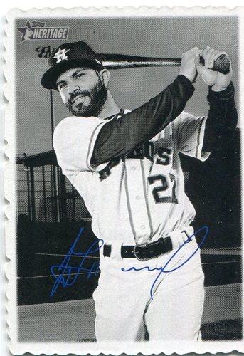 Photo of 2018 Topps Heritage '69 Topps Deckle Edge #2 Jose Altuve   Facsimile autograph