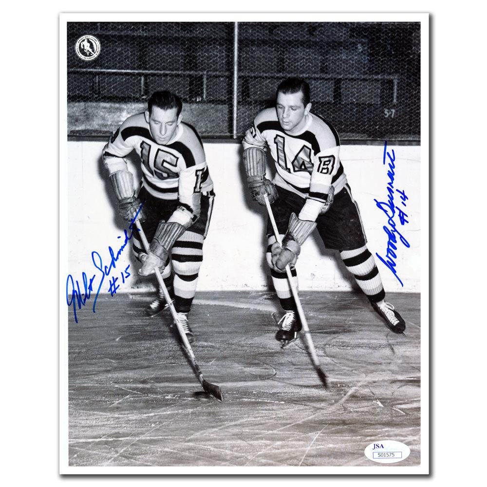 Milt Schmidt & Woody Dumart Boston Bruins Dual Autographed 8x10