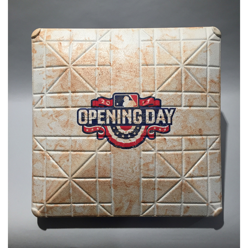 Photo of 2017 Los Angeles Angels Opening Day - 1st Base Used In Innings 6-9 - 4/07/17