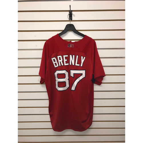 Photo of Mike Brenly Team-Issued Home Batting Practice Jersey