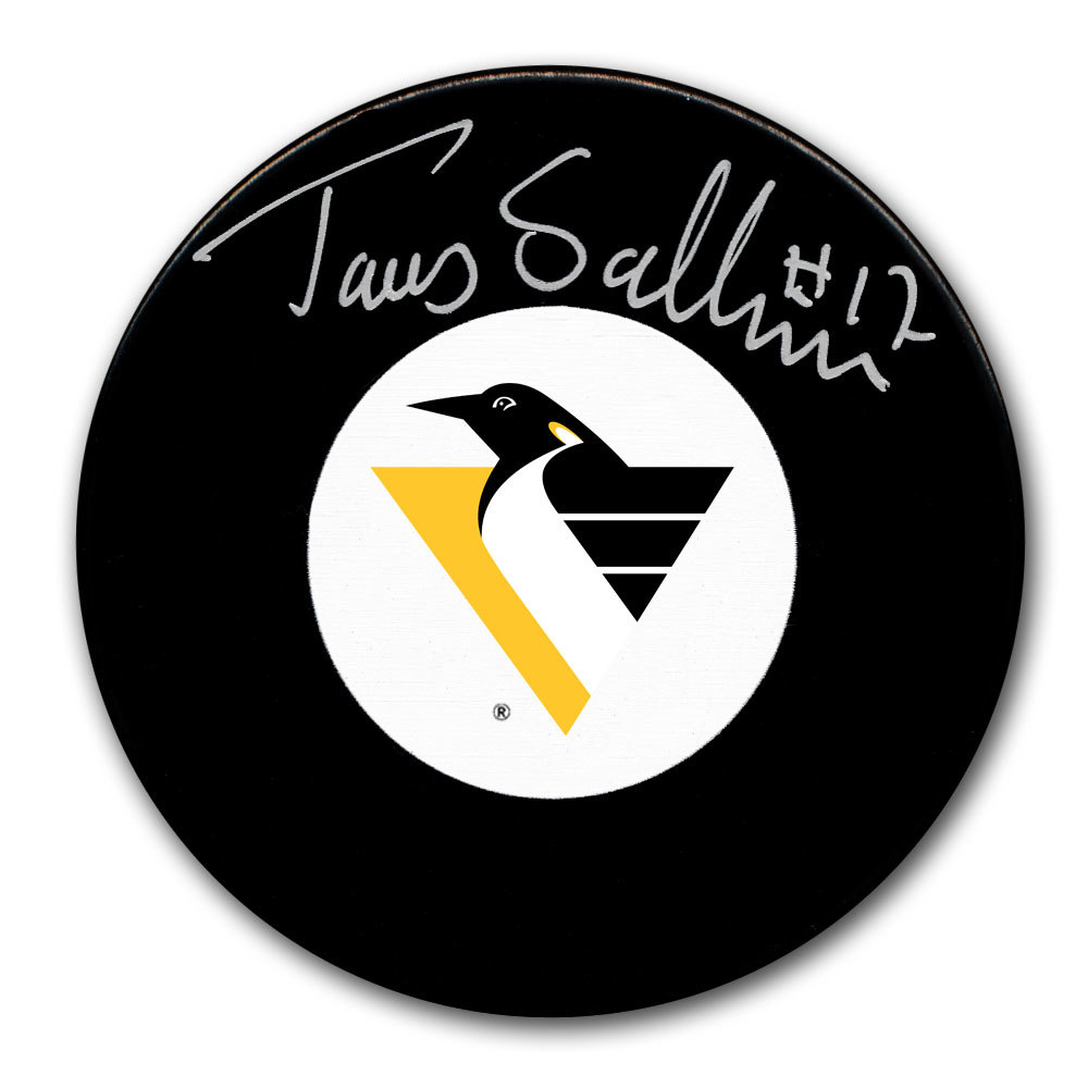 Tomas Sandstrom Pittsburgh Penguins Autographed Puck