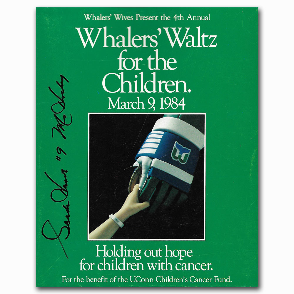 Gordie Howe Autographed 1984 Whalers Waltz for The Children Book