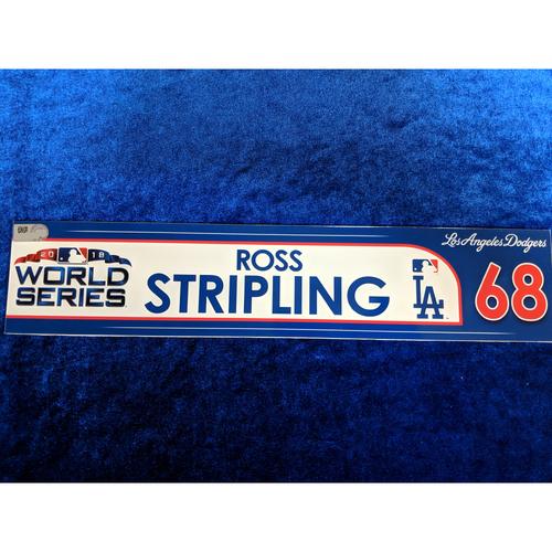 Ross Stripling Team-Issued 2018 World Series Locker Tag