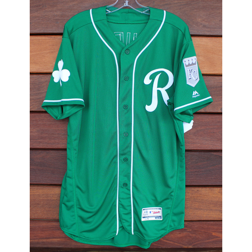 Team-Issued St. Patrick's Day Jersey: DJ Burt (Size - 44)