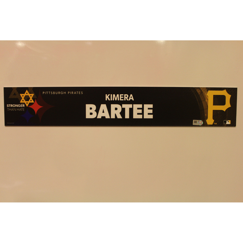 Photo of 2019 Game Used Locker Nameplate - Kimera Bartee