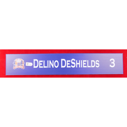 Photo of Final Season Game-Used Locker Tag - Delino DeShields - 9/13/19 vs OAK