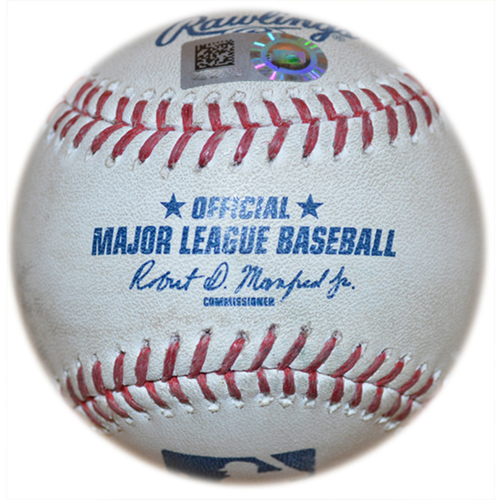 Photo of 2020 New York Mets Game-Used Baseball (August) - PRESALE: Choose your Game Date!