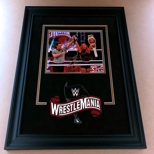 Photo of Becky Lynch SIGNED WrestleMania 36 Champion's Edition Frame (Random Number)