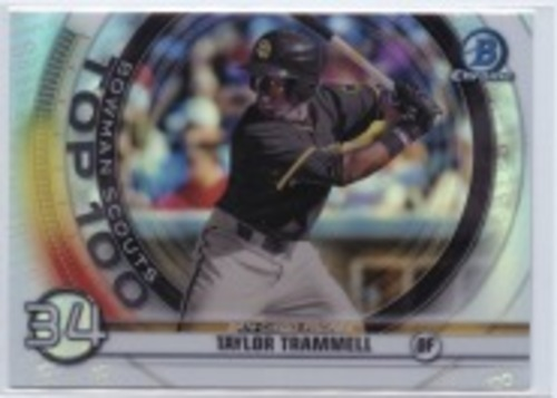 Photo of 2020 Bowman Chrome Scouts Top 100 #BTP34 Taylor Trammell