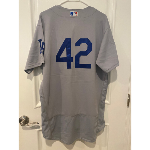 Photo of Corey Seager Authentic Game-Used Jersey from 8/28/20 Game @ TEX - Size  46
