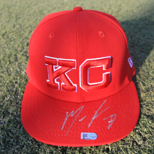Photo of Game-Used Monarchs Cap: Maikel Franco #7 (STL @ KC 9/22/20)