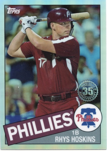 Photo of 2020 Topps Chrome '85 Topps #85TC20 Rhys Hoskins