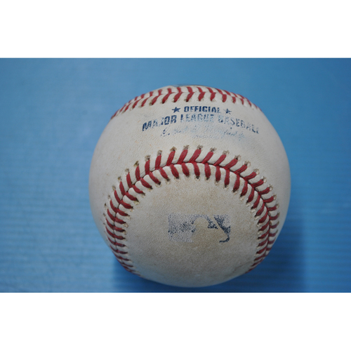 Photo of Game-Used Baseball - CHI at PIT - 9/2/2020 - Pitcher - Derek Holland, Batter - Anthony Rizzo, Top 7, Single