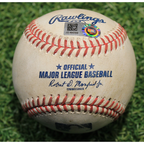 Photo of Game-Used Baseball: Yasmani Grandal 676th Career Hit (CWS @ KS 8/1/20)