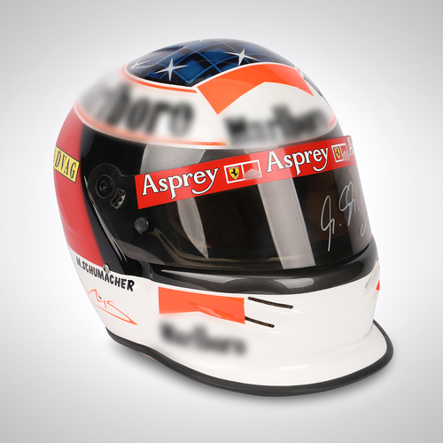 Photo of Michael Schumacher 1998 Signed Limited Edition Bell Helmet