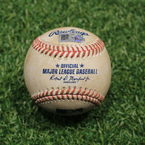 Photo of Game-Used Baseball: Austin Romine 276th Career Hit (9/24/20 DET @ KC)