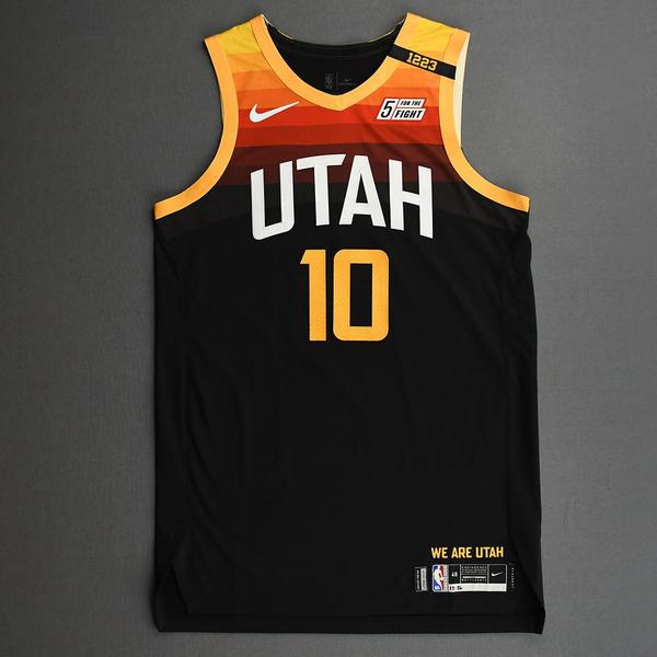 Image of Mike Conley - Utah Jazz - Game-Worn City Edition Jersey - Scored 20 Points - 2020-21 NBA Season