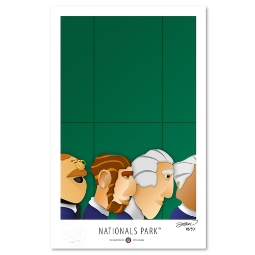 Photo of Nationals Park - Collector's Edition Minimalist Art Print by S. Preston Limited Edition /350  - Washington Nationals