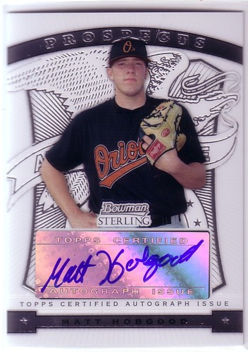 Photo of 2009 Bowman Sterling Prospects #MH Matt Hobgood AU