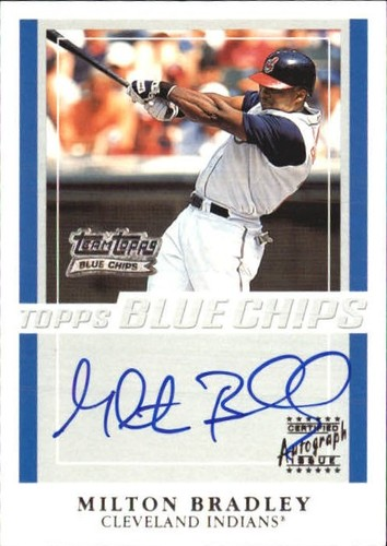 Photo of 2003 Topps Blue Chips Autographs #MB Milton Bradley