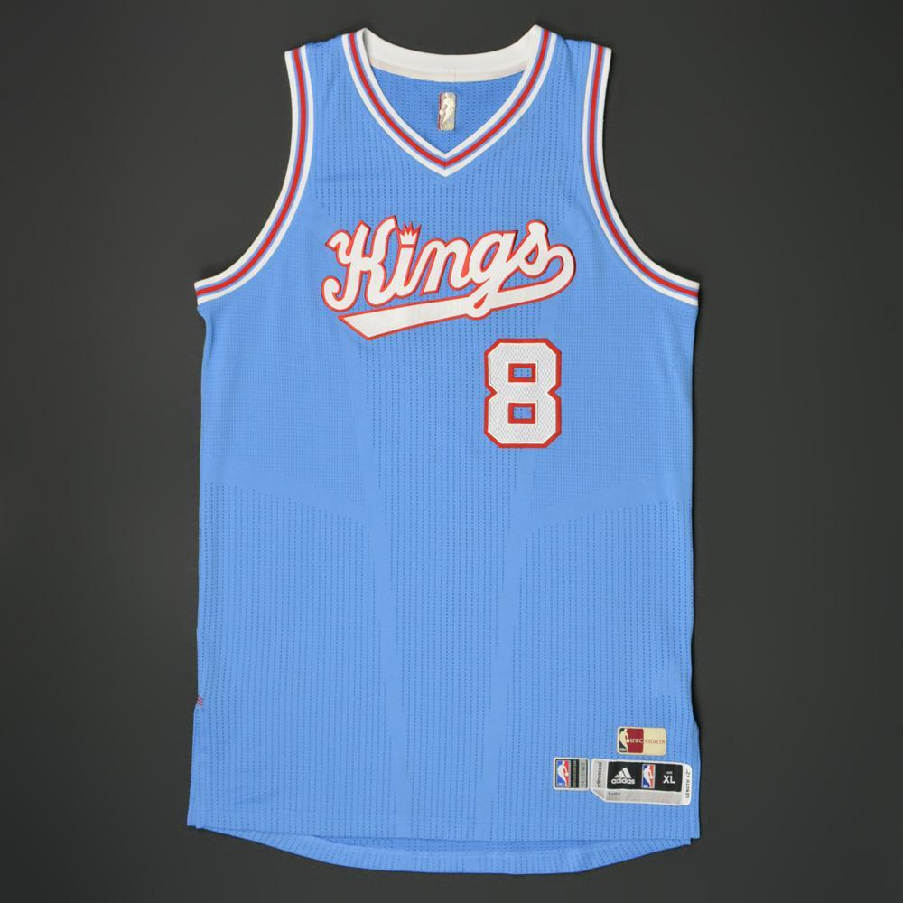 brand new d68db bfc97 Rudy Gay - Sacramento Kings - Game-Worn '1985-86 Road ...