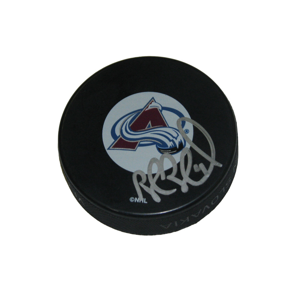 ROB BLAKE Signed Colorado Avalanche Puck