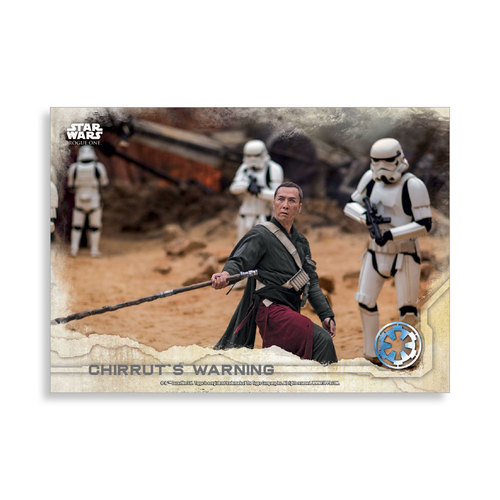 Chirrut's Warning 2016 Star Wars Rogue One Series One Base Poster - # to 99