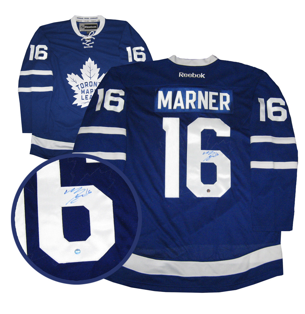 lowest price bb9d1 d53e1 Mitch Marner - Signed Toronto Maple Leafs Blue Jersey - NHL ...