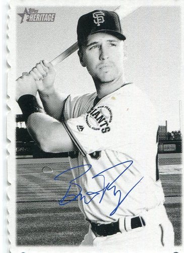 Photo of 2018 Topps Heritage '69 Topps Deckle Edge #8 Buster Posey  Facsimile autograph
