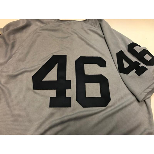 Photo of Game-Used 1968 World Series 50th Anniversary Jersey: Jeimer Candelario