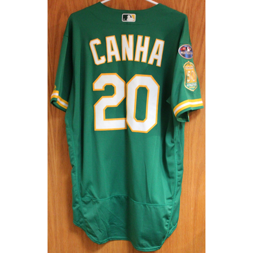 Team Issued Mark Canha 2018 Jersey w/ Postseason Patch