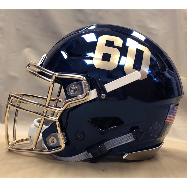 Photo of #60 Game Worn  Fear the Goat Army/Navy Game Football Helmet