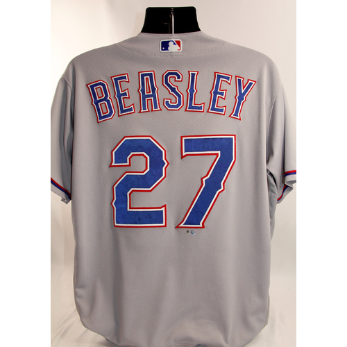 Photo of Game-Used Grey Jersey - Tony Beasley - 8/20/18