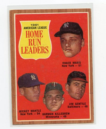 Photo of 1962 Topps #53 AL Home Run Leaders/Roger Maris/Mickey Mantle/Jim Gentile/Harmon Killebrew