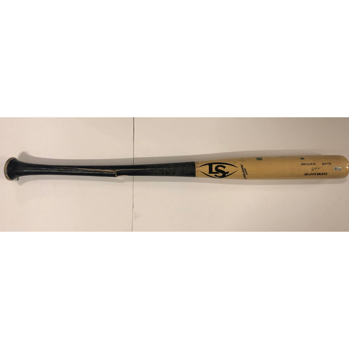 Photo of Game Used Cracked Bat (Acuna) Used by Austin Riley - Hit Single - July 15, 2019