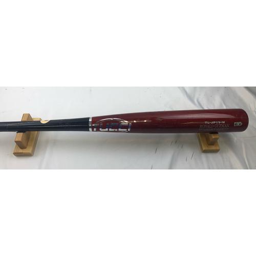 Game-Used Broken Bat - Ronald Guzman - 4/1/19