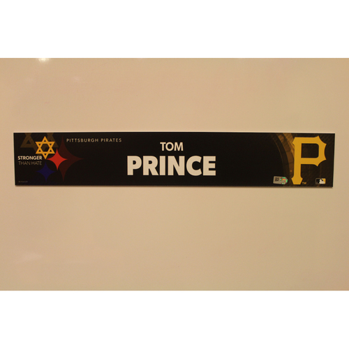 Photo of 2019 Game Used Locker Nameplate - Tom Prince