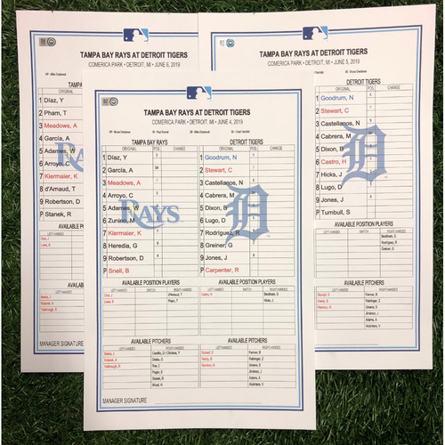 Photo of Replica LineUp Cards: June 4-6, 2019 at DET