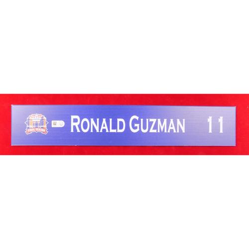 Final Season Game-Used Locker Tag - Ronald Guzman - 9/13/19 vs OAK