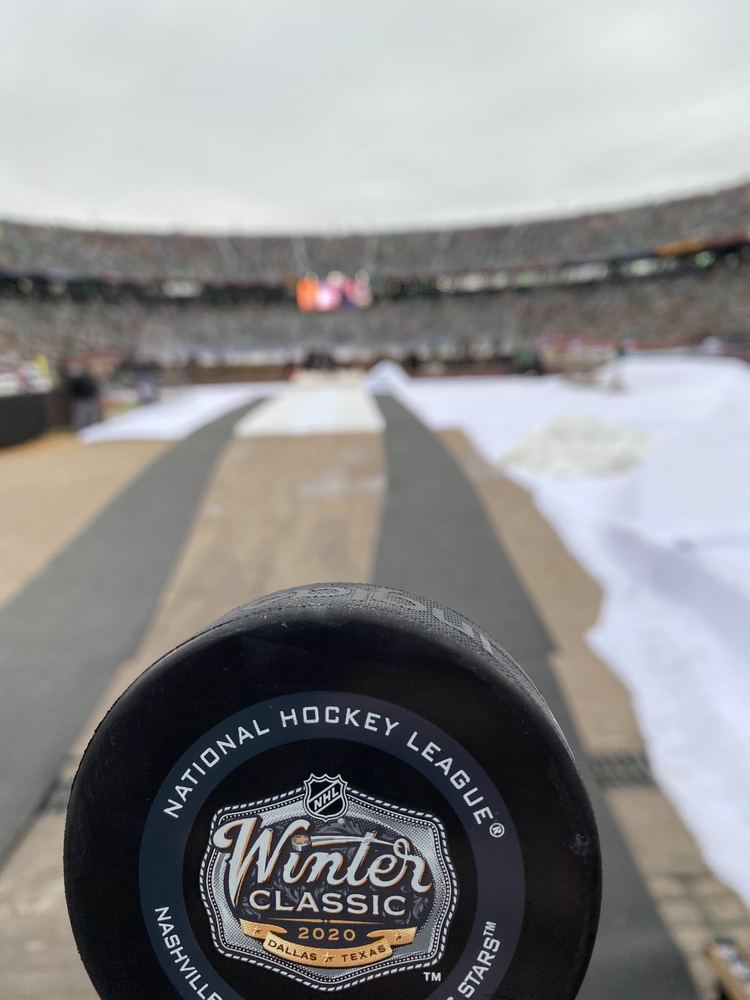 Dallas Stars vs. Nashville Predators Game-Used Puck from the 2020 NHL Winter Classic on January 1, 2020 - First Puck Collected