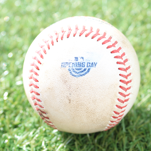 Photo of Game-Used Opening Day Baseball: Batter - Gordon, Pitcher - Marshall, Foul , Bottom 8 (7/31/20 CWS @ KC)