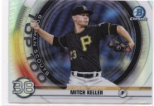 Photo of 2020 Bowman Chrome Scouts Top 100 #BTP38 Mitch Keller