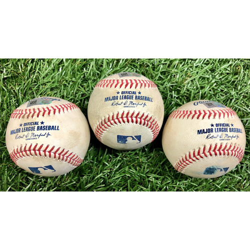 Photo of Game Used Baseball Package: Mike Zunino, Brandon Lowe and Kevin Kiermiaer - September 26, 2020 v PHI