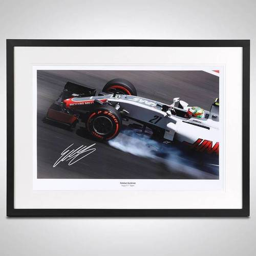 Photo of Esteban Gutierrez Limited Edition Signed & Framed Photo - Haas F1 Team