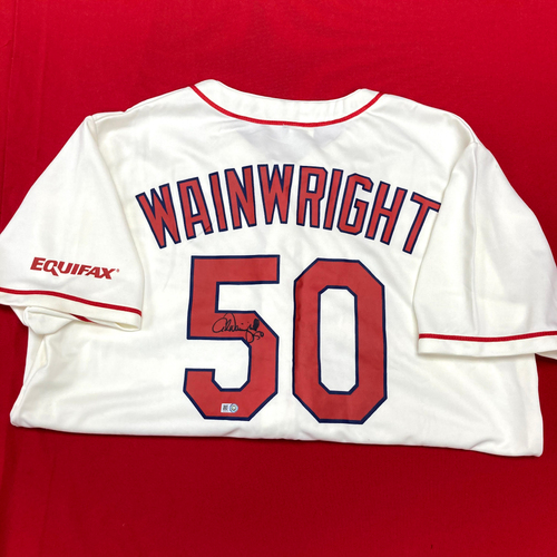 Photo of Adam Wainwright Autographed Promo Jersey (Size Youth XL)