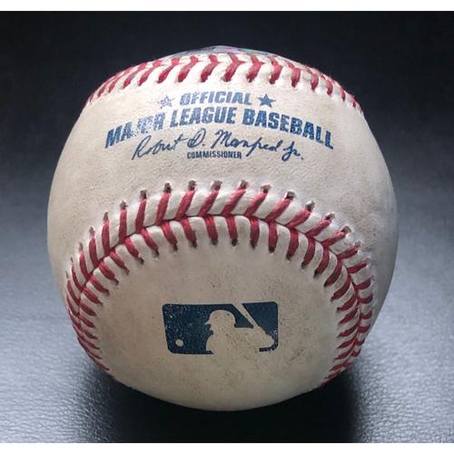 Photo of Game Used Baseball: Batter: Shohei Ohtani (Home Run), Pitcher:  Taijuan Walker - Top 2nd (LAA @ SEA - 8/6/2020)
