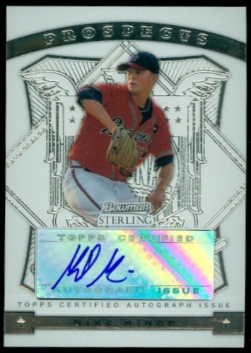 Photo of 2009 Bowman Sterling Prospects #MM Mike Minor AU