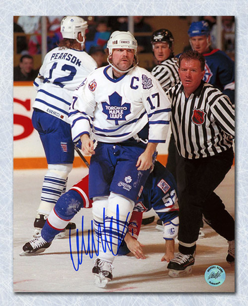 Wendel Clark Toronto Maple Leafs Autographed 8x10 Photo
