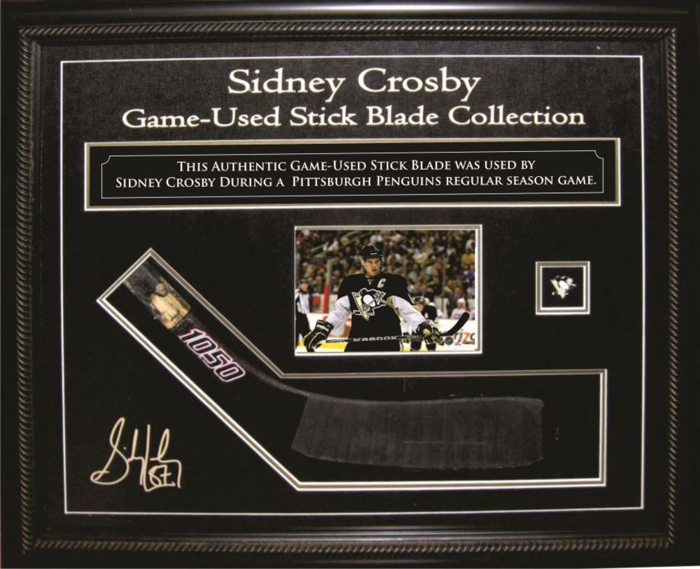 Sidney Crosby Game-Used Stick-Blade & Deluxe Cabinet